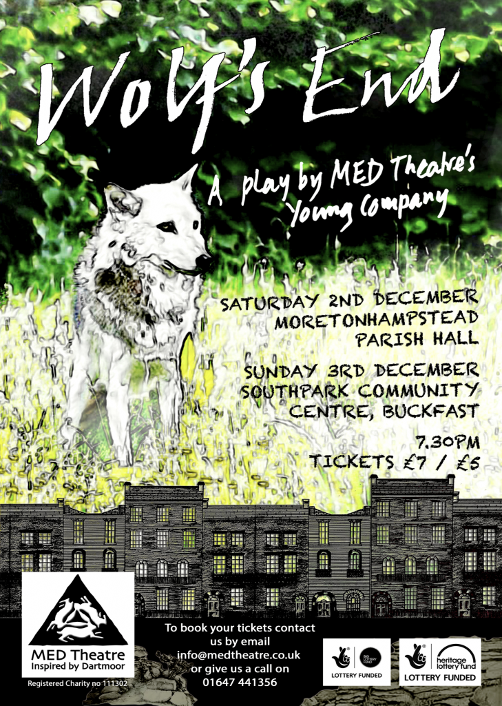 A poster for the young people's play Wolf's End